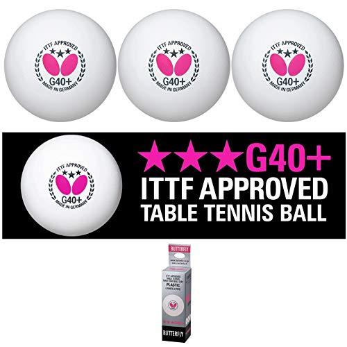 Butterfly 3Stern G40Tisch Tennis Ball (3Stück)–Weiß