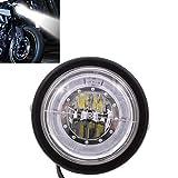 KaTur Faro de la Motocicleta Faro LED 6 1/2'para K awasaki H Arley H Onda S uzuki Y amaha Soporte Blue Angel Eye Personalizado