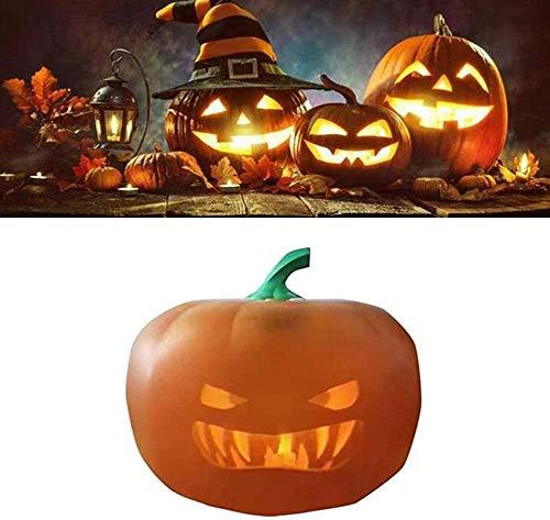 Kürbislampe, 3-in-1-Halloween-sprechender animierter Kürbis mit eingebautem Projektor und Lautsprecher, mit über 70 Minuten lustiger Animation, DREI Liedern, 40 Zeilen mit Witzen und Phrasen