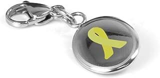 My Identity Doctor Custom Engraved Yellow Awareness Charm - 316L Steel