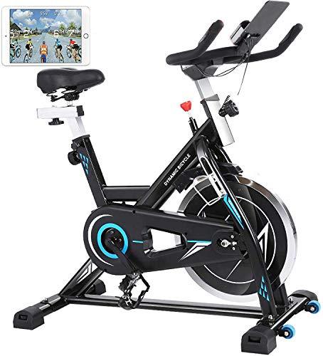 ANCHEER Heimtrainer Fahrrad, Indoor Hometrainer Cycling Fitnessbikes, Ergometer für zuhause mit 22kg Stahlschwungrad, Pulsmesser, Video Events & Multiplayer APP, Benutzergewicht bis 170kg