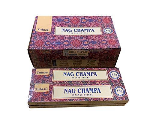 YesMandala Incienso Tulasi - Nag Champa - 4 Cajas x 15g -