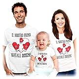 Shirtgeil Il Nostro Primo Natale Insieme - Idea Regalo per Famiglie Mamma papà Bambini Uomo Bianco X-Large