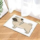 ZHOU Animals by funny big eyes shar pei pet dog white Rugs Non-Slip Floor child Entryways Outdoor Indoor Front Door Mat bathroom accessories 80x50cm