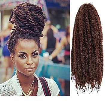 Marley Hair 18 Inch Marley Twist Hair Afro Twist 4 Packs Marley Braiding Hair for Marley Locks Crochet Hair Synthetic Hair Extension  18inch 33#