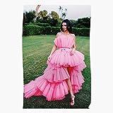 Fashion Kendall Jenner Pink Haute Magazine Model Vogue Póster de impresión de arte de pared para decoración del hogar !