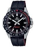CASIO Herren Analog Quarz Uhr mit Echtes Leder Armband EFV-120BL-1AVUEF