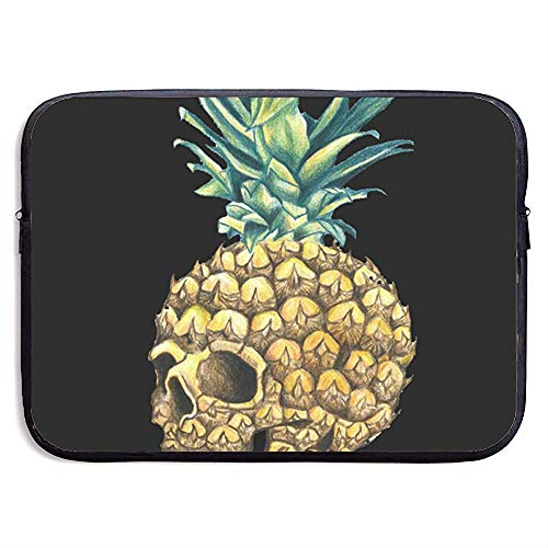 Waterdichte Computer Tas, Laptop Sleeve Hoes, Zakelijke Aktetas Mes, Ananas Schedel Tekenen Ananas Tattoo Compatibele Notebook Bag Case, Laptop Sleeve Tas, Tablet Case Cover