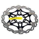 SHHMA Disco de Freno de Disco de Bicicleta, Discos flotantes de Bicicleta de montaña, Pastillas de Freno de Bicicleta, Seis Discos de Freno de uñas, Accesorios de Bicicleta,Negro,180MM