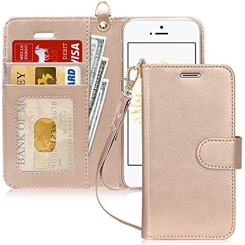 FYY Schutzhülle iPhone 5SE Schutzhülle, [Serien High-End] Ledertasche von Erste Qualität mit Coverture Allmächtige für iPhone 5SE D2-Or SE/5S/5