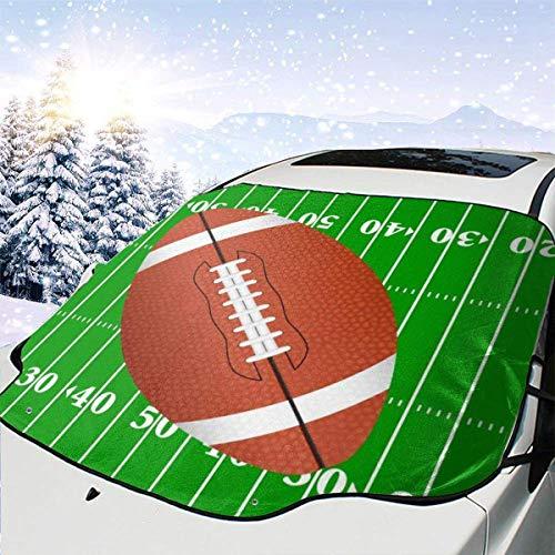 LREFON Winddichte Windschutzscheibe Schneedecke Auto Sonnenschutz Visier American Football Field Area Winter Frostschutz Protector Alle Fahrzeuge