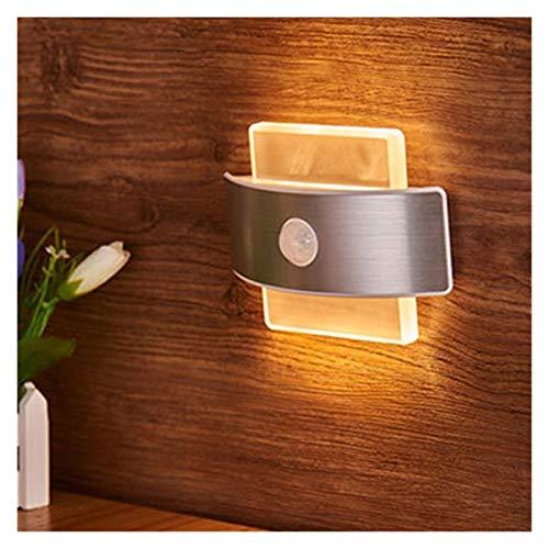 Lámparas El sensor de movimiento sensor de luz de la noche Armario Gabinete corredor de la lámpara de pared con pilas inalámbrica Gabinete infrarrojo Detector de movimiento de infrarrojos Buena calida