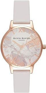 Olivia Burton Womens Quartz Watch, Analog Display and Leather Strap OB16VM12