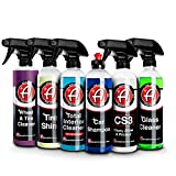 Adam's Arsenal Builder Car Cleaning Kit (6 Piece) - Our Best Value Car Detailing Kit   Car Shampoo Wheel Cleaner Interior Cleaner Glass Cleaner Tire Shine Spray Car Wax   Car Wash Kit