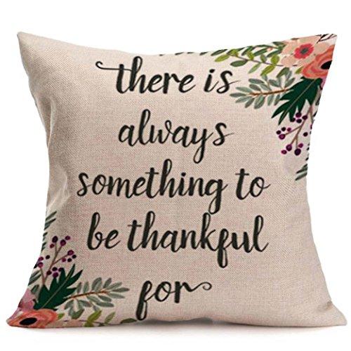 Ninasill Kerstmis kussensloop, x10E6 x 10E6; Exclusieve Happy Fall Thanksgiving Day zacht linnen kussensloop kussensloop huisdecoratie