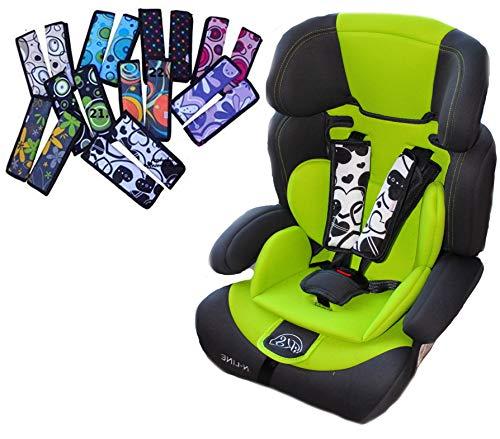 Camicco ** SEAT PAD Universal ** 2tlg. Gurtpolster SET für für Autositz, Kindersitz z.B. Maxi-Cosi, Römer, Cybex etc. (Design 4)