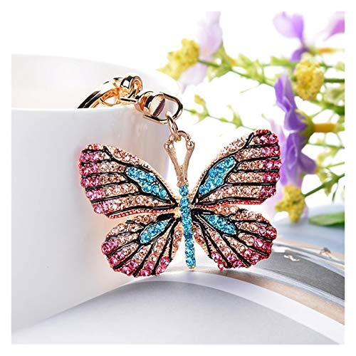 gxglhgsy Llavero Anillo dominante del Bolso de señora Pendiente Regalo de la Nueva Mariposa de la Moda Artesanal Coche Creatividad (Color : Photo Color, Size : Photo Color)