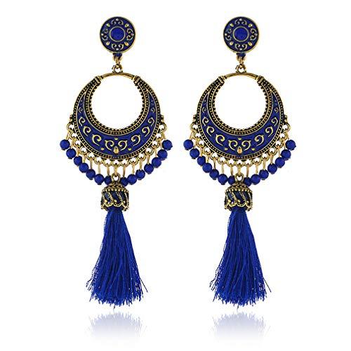 Damen Bohemian Ohrringe,Quaste Hänge Ohrringe Schmuck für Frauen,Baumeln Ohrring Zubehör Schmuck für Frauen Mädchen