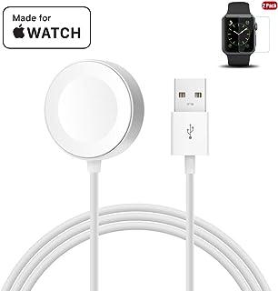 Apple Watch 充電ケーブル MPIO最新版 アップルウォッチ マグネット式 USB充電ケーブル 急速 ワイヤレス充電ケーブル 38mm/42mm対応(ホワイト1m)