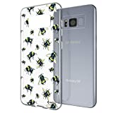 NALIA Motif Case Compatible with Samsung Galaxy S8 Plus, Pattern Design Silicone Back Cover Protector Skin, Shockproof Smart-Phone Bumper, Slim Transparent Protective, Designs:Bumblebee