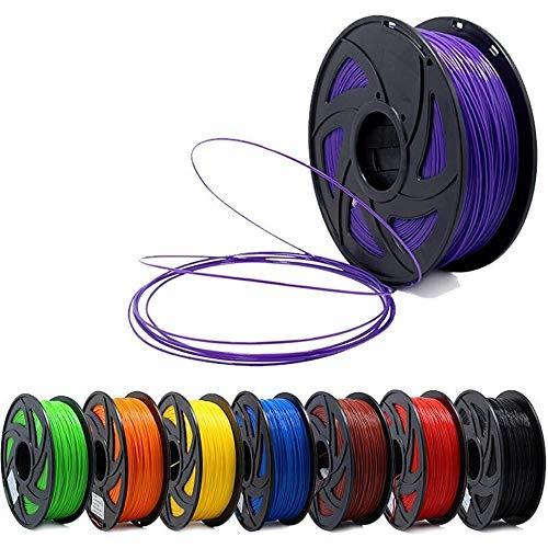 H.Y.FFYH Accesorios para impresoras Impresora 3D 1kg 1,75 mm PLA filamento Materiales de impresión de Colores for la Impresora 3D 7pcs Extrusora Pen