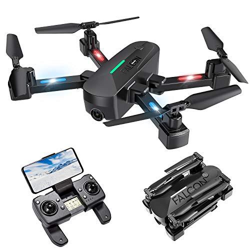 Drone con Camara, Drone GPS con Función de Calibración Automática, 4K HD 5G FPV, Quadcopter con Control Remoto Recargable, Tiempo de Vuelo 15 Minutos, Modo Apto para Principiantes (2020 Nuevo)