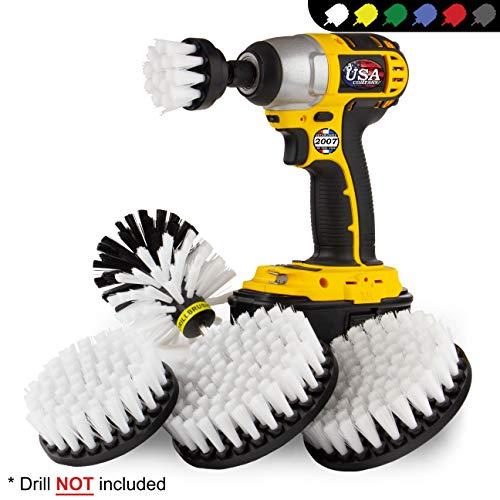 Kayak - boren borstel - carwash Kit - Soft White Borstel Drill Brush - Velgenborstel - Jet Ski - autostoel, tapijt, interieur, bekleding, vinyl, stof, leerreiniger