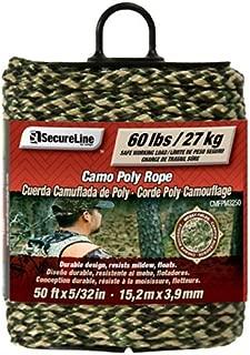 Lehigh CMFPM3250 5/32-Inch by 50-Feet Digital Camouflage Polypropylene Rope Mossy Fields