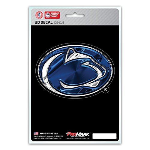FANMATS NCAA Penn State Nittany Lions 3-D Decal, Blue, One Size