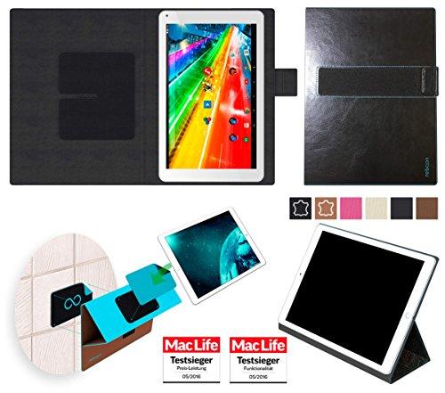 reboon Hülle für Archos 101c Platinum Tasche Cover Case Bumper   in Schwarz Leder   Testsieger