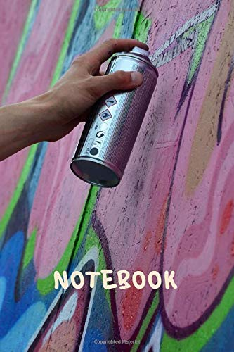 Graffiti Notebook: blank lined composition journal   Graffiti notebook   100 pages