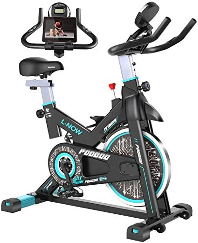 pooboo Indoor Cycling Bike Belt Drive Indoor Exercise Bike Stationary Bike LCD Display for Home product image