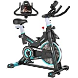pooboo Exercise Bike Belt Drive Indoor Cycling Bike, Stationary Bike with Pad/Phone Mount, Adjustable Resistance & Heavy Flywheel Smooth Quiet