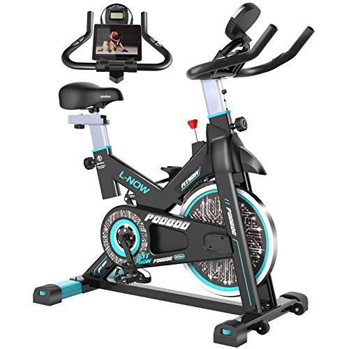 pooboo Indoor Cycling Bike, Belt Drive Indoor Exercise Bike,Stationary Bike LCD Display...
