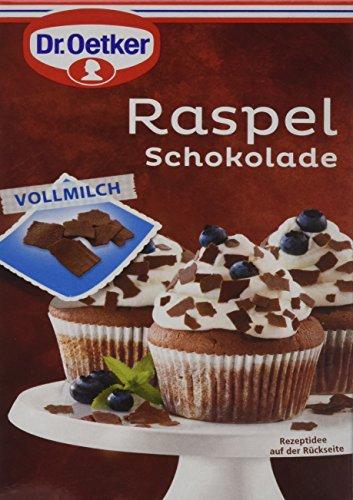 Dr. Oetker Raspel Schokolade Vollmilch, 5er Pack (5 x 100 g)