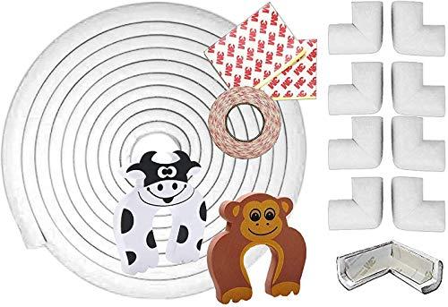 11 Piezas Kit de Seguridad para Infantil Bebé Niño| 6M (19.6Ft) Protector...