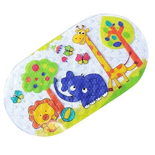 Tappetino da bagno e doccia antiscivolo per neonati, adatto a vasche da bagno di qualsiasi dimensione. zoo