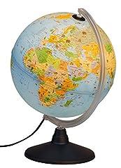 Idena 22059 Globe lumineux avec des reproductions d'animaux, des jouets éducatifs, diamètre 30 cm