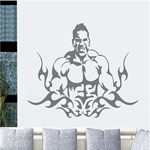 Geiqianjiumai Gym Sticker Muursticker Body Fitness Gym Poster Vinyl Muursticker Muursticker Bank Achtergrond