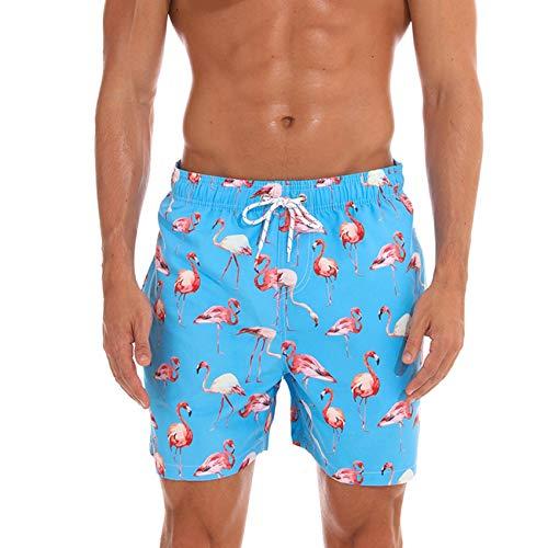 Aisprts Costumi Uomo Mare Pantaloncini Costume, Pantaloncino da Bagno Estate per Spiaggia, Running, Palestra con 3 Tasche, Fodera in Rete e Coulisse   Impermeabile, Asciugatura Rapida