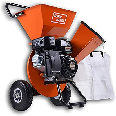 SuperHandy Gas or Electric Wood Chipper Shredder Mulcher