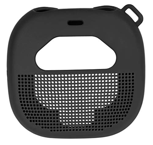 Micro Bluetooth Speaker  Featured Design with mesh Pocket for Cable and Other Accessories, Elastic Strap to Secure Device 5