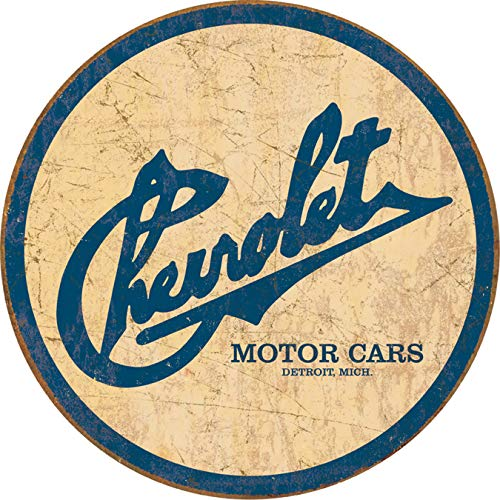 Chevy Historic Logo Tin Sign 12 x 12in