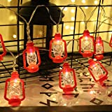 retro camper lights - Red Kerosene String Lights for Camping, Bedroom, Living Room, Ramadan Decorations - 20 LED