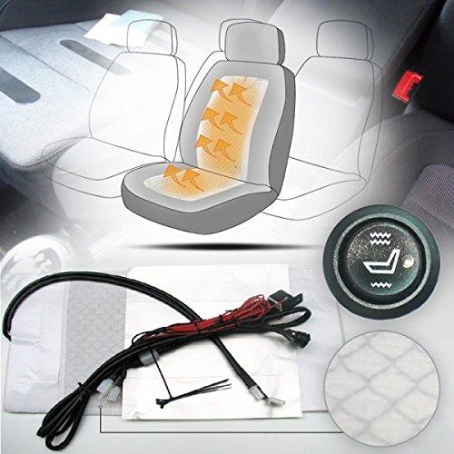 Wohnstyle24 Auto Carbon Universal Sitzheizung Heizmatten Nachrüstsatz KFZ PKW 2 Stufen