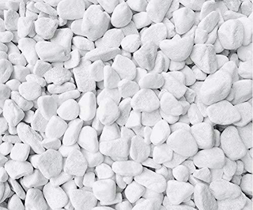 Dekosteine / Deko-Nuggets (6-8 mm), 1 kg, weiß