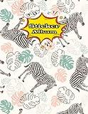 Sticker Album: Zebra Softcover Blank Sticker Album, Sticker Album For Collecting Stickers For Adults, Blank Sticker ... Collecting Album Girls (Sticker Books)