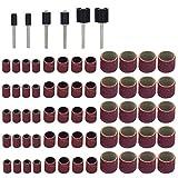 BESTOMZ 66 Pezzi Maniche da Levigatura Cilindri Abrasivi 80 Grana con Mandrini Set per Levigatura a Tamburo Pedicure Manicure Proxxon Foredom