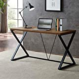 SHOCOKO <span class='highlight'>Computer</span> <span class='highlight'><span class='highlight'>Desk</span></span>, Industrial Wood and Metal X Writing <span class='highlight'><span class='highlight'>Desk</span></span>, Wood Table for Home <span class='highlight'>Office</span>, 55 inch