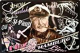 Blechschild Wanddekoration Hans Albers Thema Metall